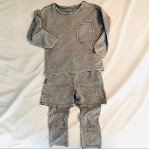 Afton Street Gray Soft 2 Piece Jogger Set Toddler